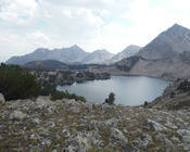 Lakeview from Cirque Lake of Sapphire and Cove Lakes