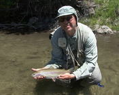 Nate with Dry Fly Innovations on SF Boise and Rainbow